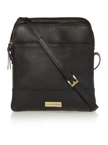 Kingsway large double zip crossbody handbag
