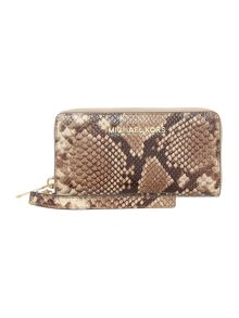 Jet set Travel multi function ziparound purse