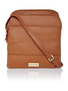 Dickins & Jones Kingsway large double zip crossbody bag