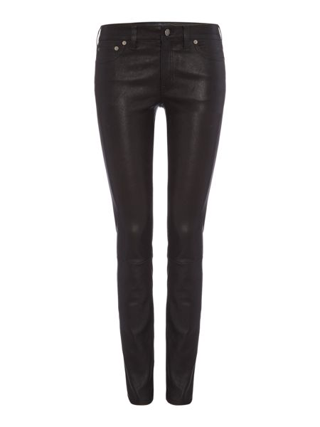 Polo Ralph Lauren 5 pocket leather legging trousers