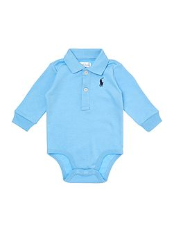 Baby Boys Long Sleeved Polo Onesie