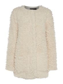Light shaggy fur coat