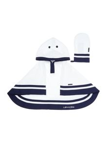 Armani Junior Bath Towel And Mittens Set