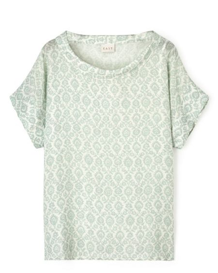 East Krishna Print Bardot Top