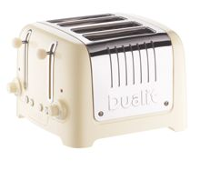 4 slot Lite Cream Toaster