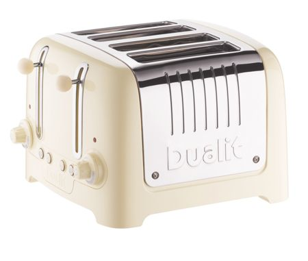 Dualit 4 slot Lite Cream Toaster