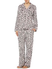 Therapy Leopard Print Fleece Pj Set