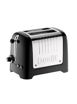 2 slot Lite Black Toaster