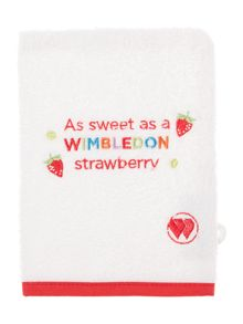 Christy Wimbledon kids wash mitt strawberry
