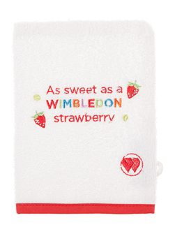 Wimbledon kids wash mitt strawberry