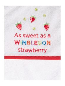 Christy Wimbledon kids cuddle robe strawberry