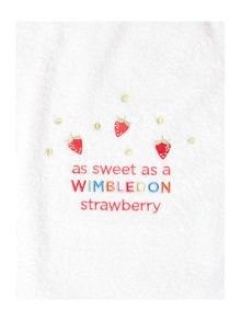 Christy Wimbledon kids poncho strawberry