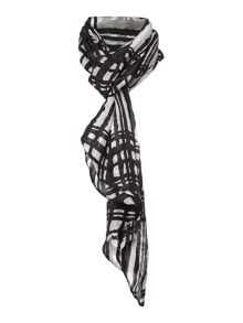 Mono Check Tubular Silk Scarf