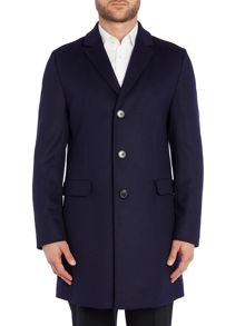 Hugo Migor2 Regular Fit Wool Overcoat