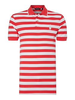 Stripe Pro-Fit Performance Pique Polo