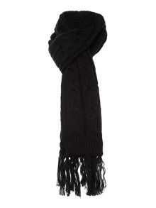 Linea Black Cable Scarf