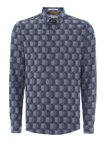 Ben Sherman The circular geo long sleeve shirt