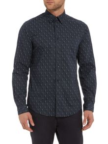 Optic circular geo long sleeve shirt