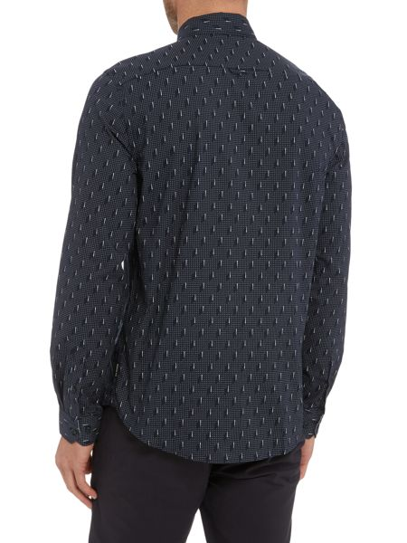 Ben Sherman Optic circular geo long sleeve shirt