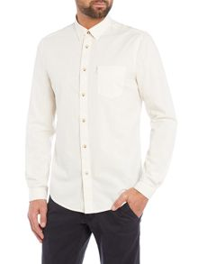 Plain Classic Fit Long Sleeve Button Down Shirt
