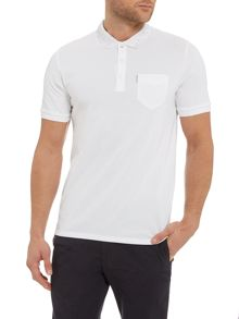 Optic circular geo collar polo