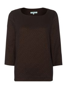 Dickins & Jones Metallic Jacquard Boxy Shell top