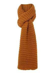 Chunky Knit Rib Long Scarf