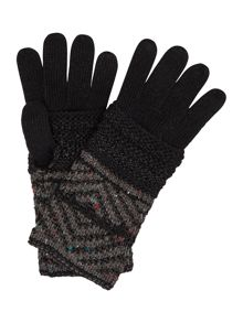 Label Lab Double Layer Zig Zag Knit Glove