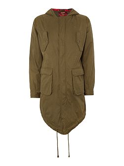 Tobias Casual Full Zip Parka Coat