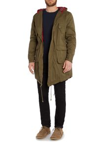 Merc Tobias Casual Full Zip Parka Coat
