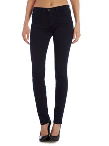 Mid rise slim jean in satin rinse stretch