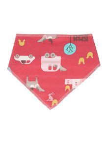Girls Gymkhana Print Reversible Bib