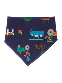 Boys Farmer Print Reversible Bib