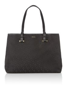 Black jacquard tote bag