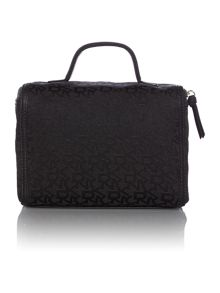 Black jacquard train case set