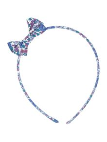 Girls Ditsy Print Bow Headband