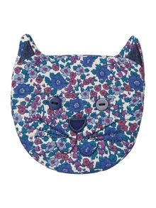 Girls Ditsy Print Cat Purse