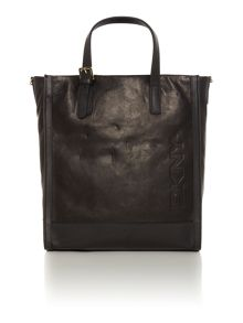 Pure black tote bag