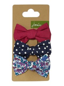 Joules Girls 3 Pack Bow Hair Slides
