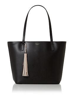 De beauvoir black large tote bag