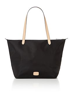 Pocket essentials black large tote bag