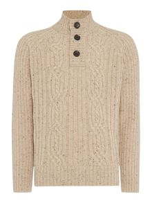 Howick Hobart Cable Funnel Neck Jumper