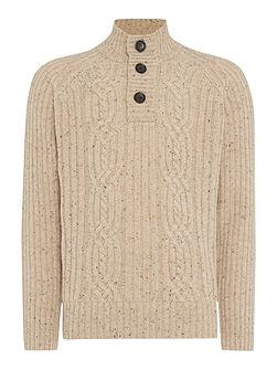 Men's Howick Hobart Cable Funnel Neck Jumper
