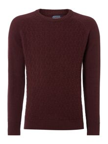 Howick Fairfax Textured Cotton Crew Neck Jumper