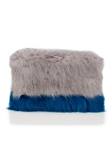 Helen Moore Opal & Kingfisher PomPom Clutch Bag