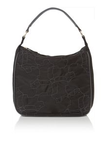 In stiches large black hobo bag