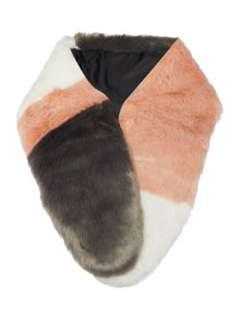 Faux Fur Colour Block