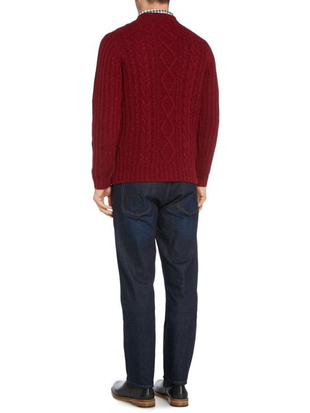 Howick Fisherman Cable Crew Neck Jumper