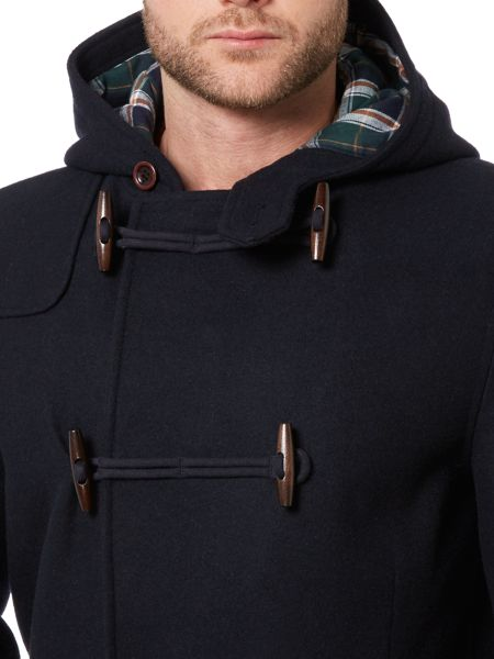 Howick Hucklow Duffle Coat With Toggle Fastening