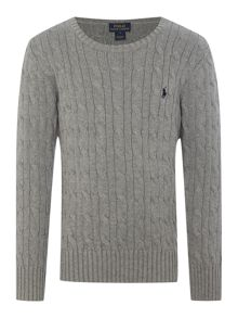 Boy Long Sleeve Cable Knit Jumper
